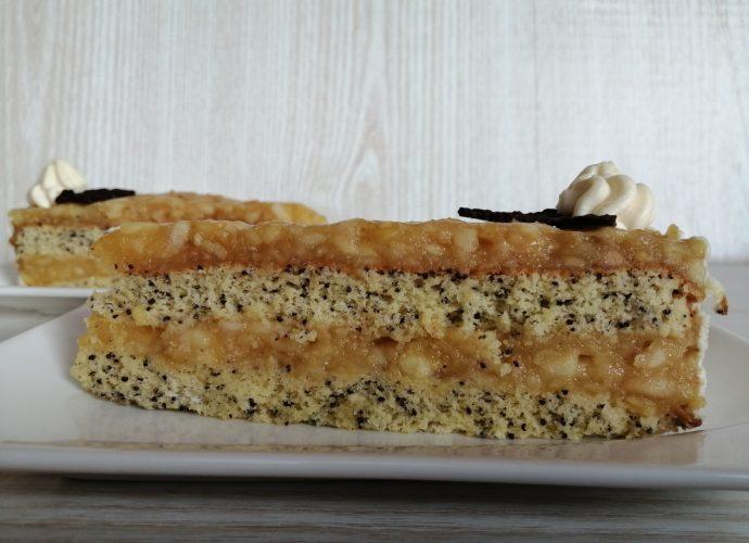 gluténmentes torta, almás-mákos sütemény