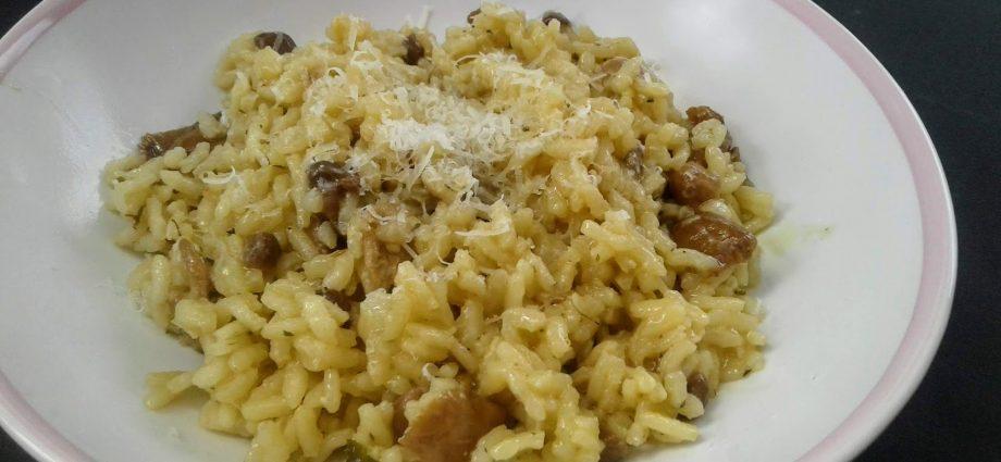 gombás gluténmentes recept, rizottó recpt