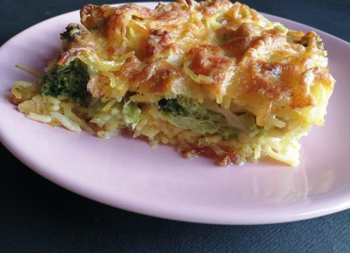 csirkés, brokkolis, sajtos sült tészta gluténmentes recept