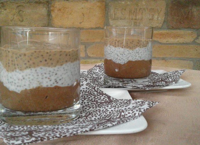 chia mag puding, gluténmentes desszert, főzés nélküli édesség