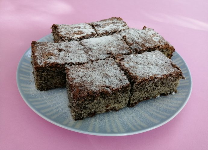 gluténmentes sütemény, mákos süti recept