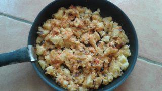 hagymás tört krumpli, gluténemnets köret