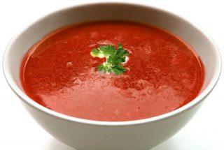 gluténmentes paradicsomleves, paradicsomleves liszt nélkül, gluténmentes leves