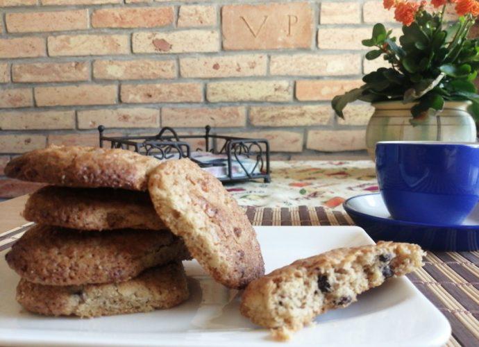 csokis-diós gluténmentes keksz