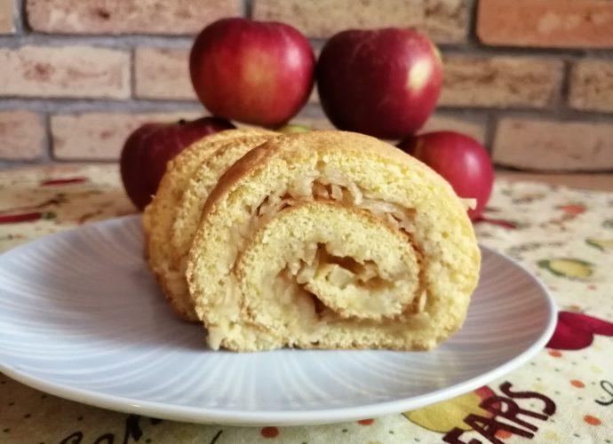 gluténmetes almás sütemény, rizsliszttel készült sütemény