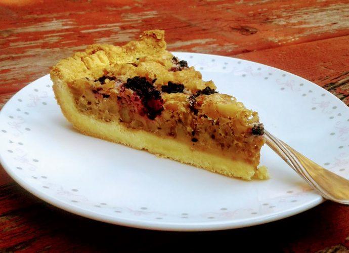 gluténmentes pite, szedres-diós süti
