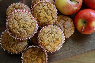 almás muffin, mézeskalácsfűszeres muffin, gluténmentes muffin