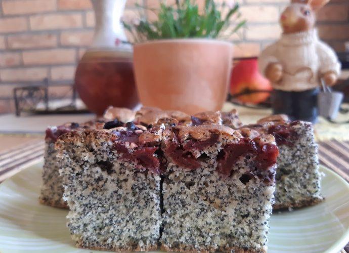 meggyes-mákos gluténmentes kevert süti