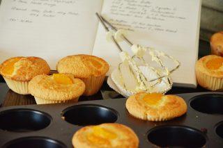 gluténmentes ütemény, őszibarackos süti, gluténmentes muffin