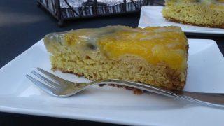 gluténmentes sütemény, gluténmentes recept, egyszerű őszibarackos torta