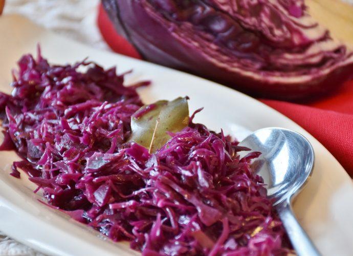 párolt káposzta, lila káposzta recept