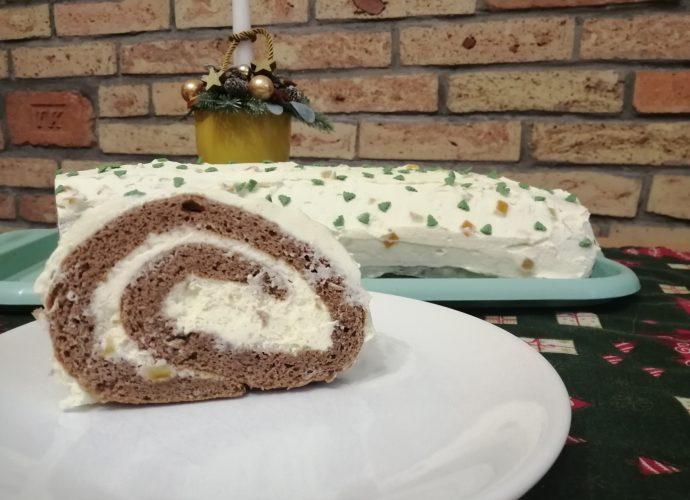 karácsonyi sütemény, gluténmentes karácsoyni piskótatekercs