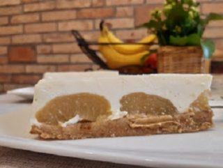 keksz alapú barackos görög joghurt torta sütés nélkül