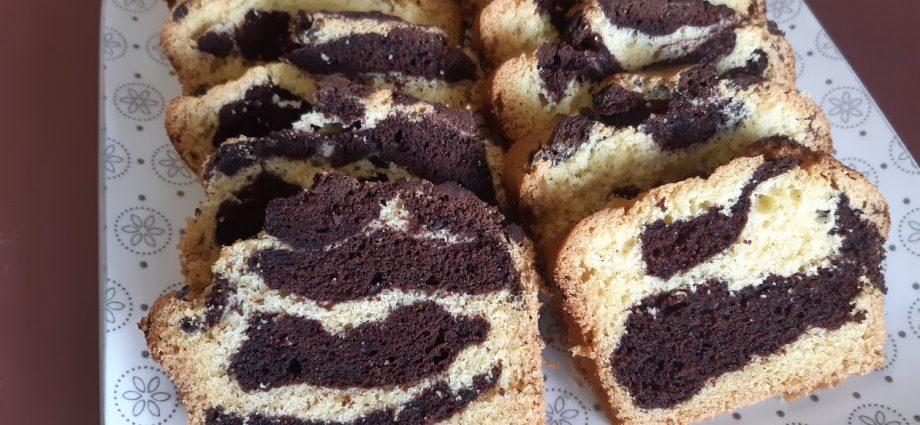 laktóz- és gluténmentes márványos sütemény