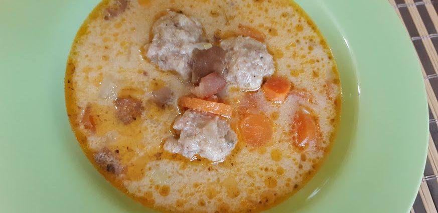 tejszínes gombaleves gluténmentes húsgombóccal